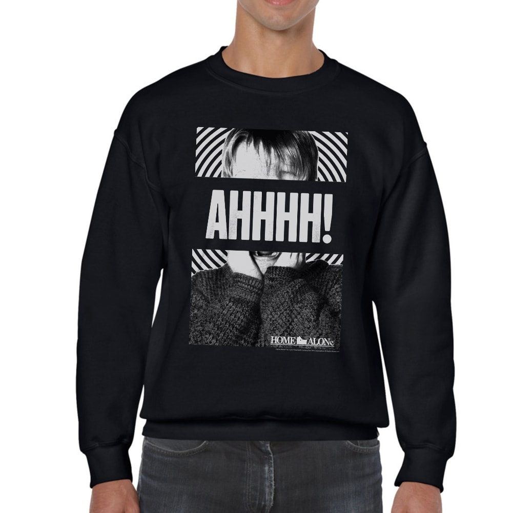 Shop Home Alone Kevin Spiral Mens Black Sweatshirt On Sale Free