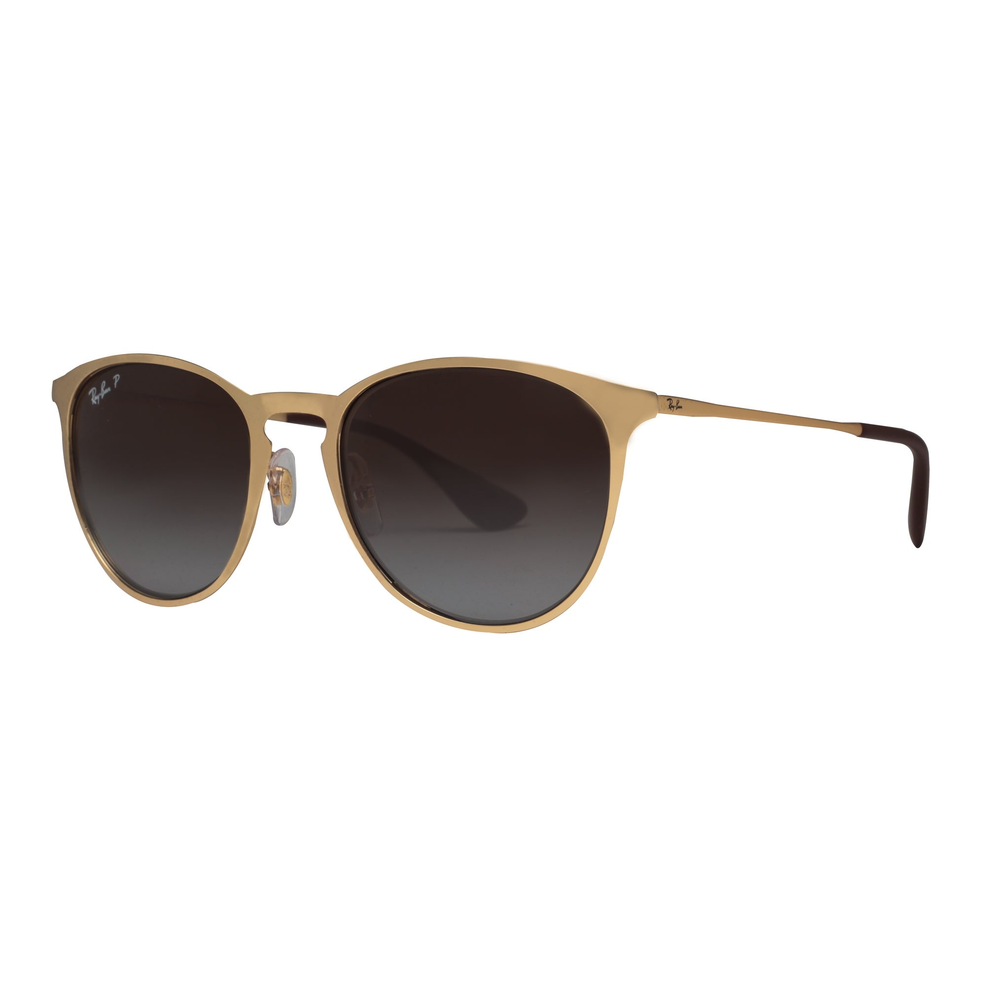 37295ec6379 Ray Ban RB3539 112 T5 Erika Metal Gold Polarized Brown Gradient Round  Sunglasses - 54mm-19mm-145mm
