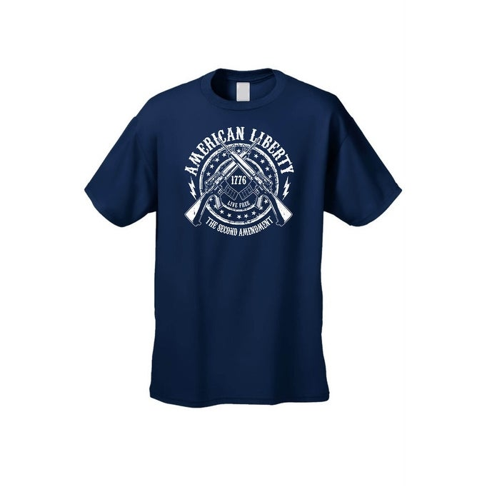 55c863f2a437 Shop Men's T-Shirt American Liberty The 2nd Amendment Live Free Since 1776  Guns Tee - Free Shipping On Orders Over $45 - Overstock - 11820315