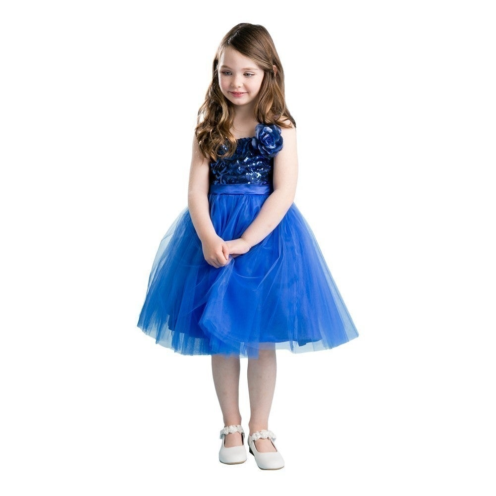 Girls royal blue floral sequin junior bridesmaid dress free girls royal blue floral sequin junior bridesmaid dress free shipping today overstock 24312226 ombrellifo Choice Image