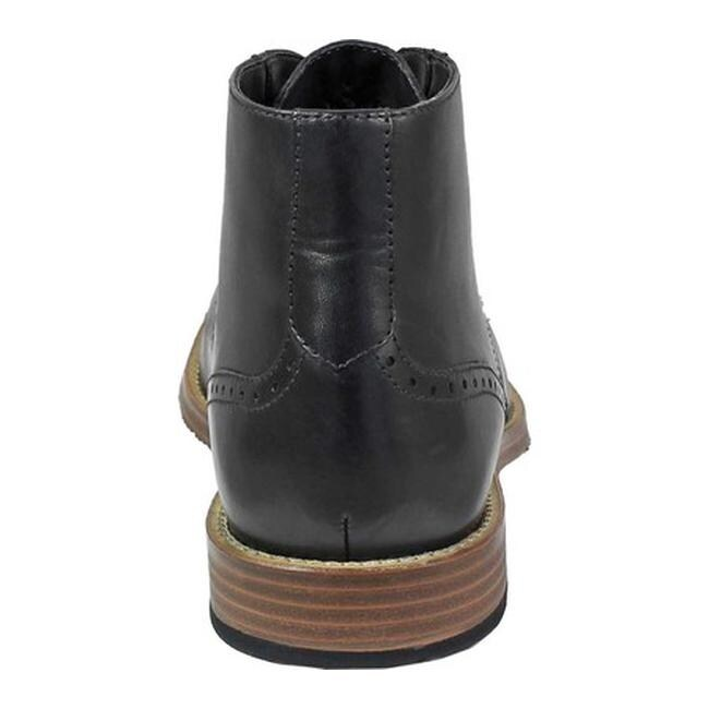 0b662fe85dbd5 Shop Nunn Bush Men s Middleton Plain Toe Chukka Boot Black Leather - Free  Shipping Today - Overstock.com - 22864189