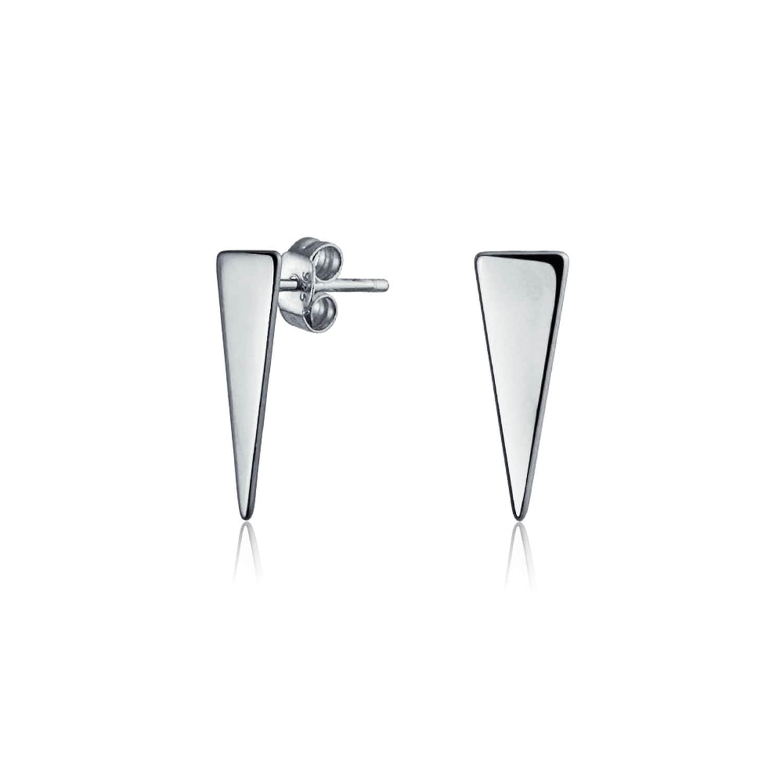 Shop Bling Jewelry Modern Silver Geometric Triangle Stud earrings