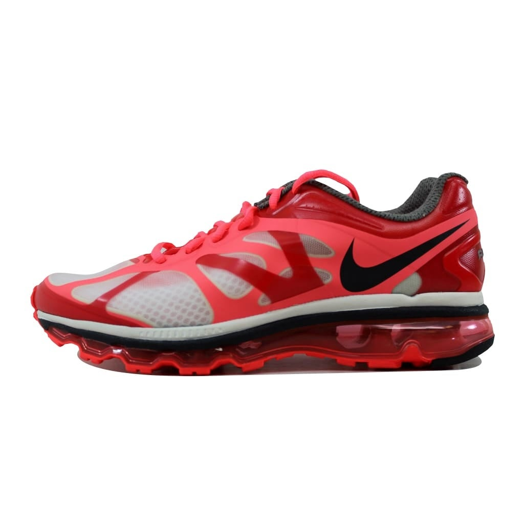 best service 282b0 63862 Shop Nike Women s Air Max+ 2012 White Anthracite-Hot Punch-Siren  Red487679-105 - Free Shipping Today - Overstock - 21141691