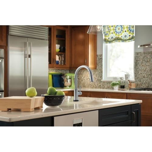 Shop Delta 9159T DST Trinsic Pull Down Kitchen Faucet With On/Off Touch  Activation, Magnetic Docking Spray Head   Includes Lifetime   Free Shipping  Today ...