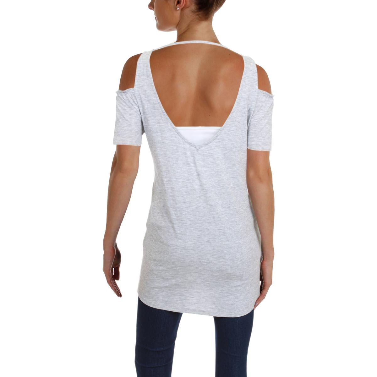 6f9db155e3cba7 Shop Nanette Lepore Womens Pullover Top Cold Shoulder Smocked - Free  Shipping On Orders Over  45 - Overstock - 23440969