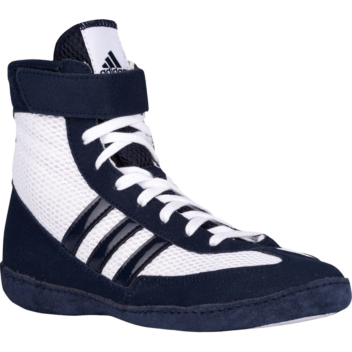 5c5fb61ec1f Shop Adidas Combat Speed 4 Youth Wrestling Shoes - White Navy - Free  Shipping Today - Overstock - 16629704