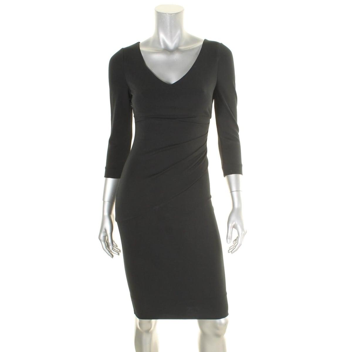 Shop Diane Von Furstenberg Womens Bevin Cocktail Dress Ruched 3/4 ...