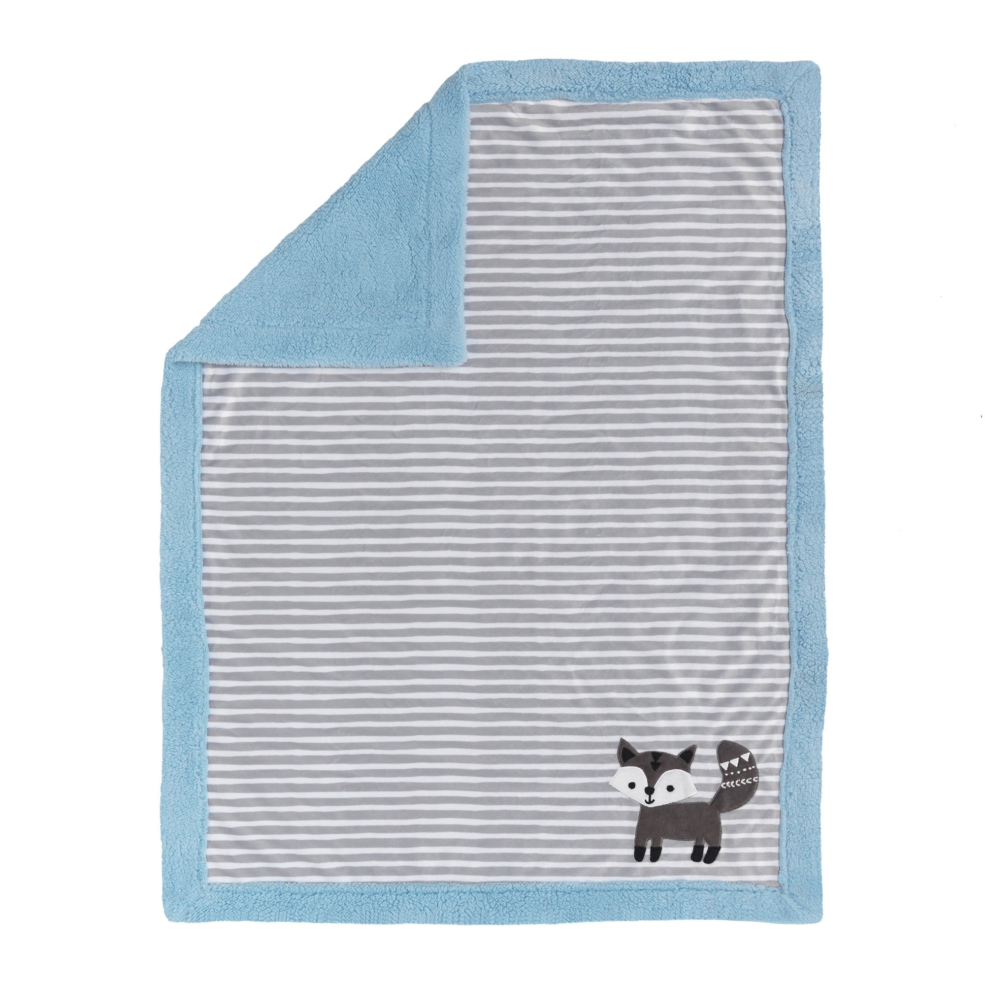 2051ee3ba2 Shop Lambs   Ivy Stay Wild Blue Gray White Fox Minky and Sherpa Baby Blanket  - Free Shipping On Orders Over  45 - Overstock - 23484838