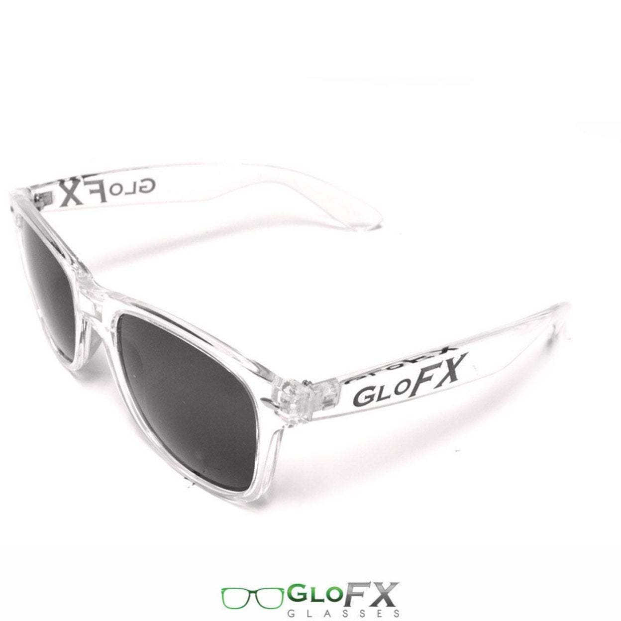 f9ab43c459 Shop GloFX Regular Sunglasses â   Clear Great w  Glowsticks Diffraction  Shades Super Tough Frame Nerd Hipster Raver EDM for Men Women - Free  Shipping On ...