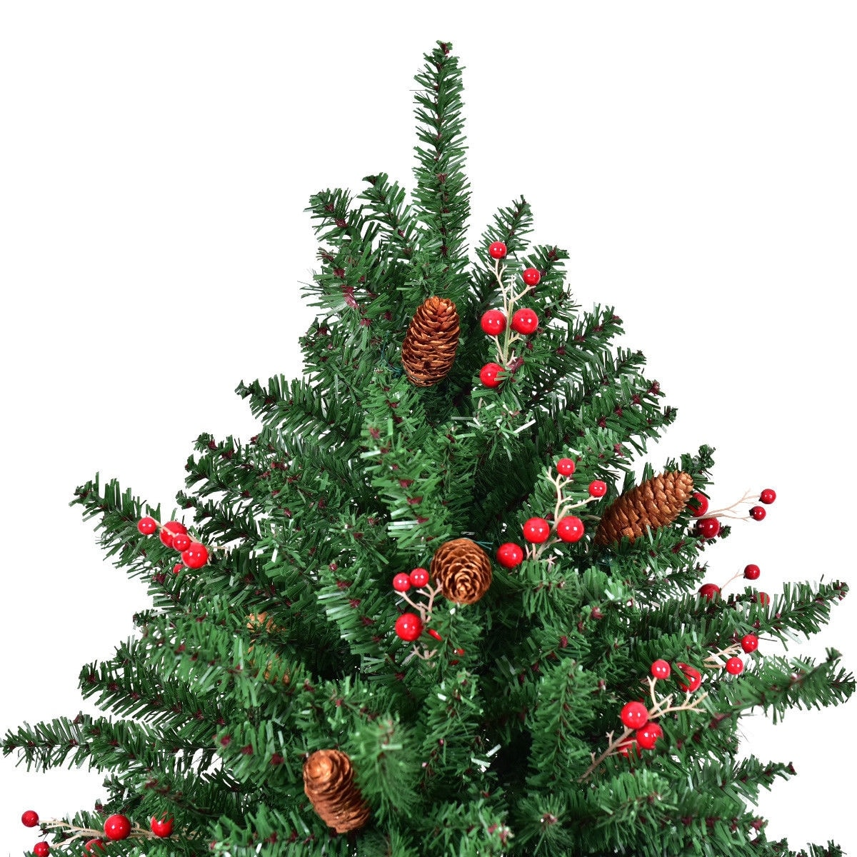 Shop Costway 8FT Artificial PVC Christmas Tree 2528 Tips Green w ...