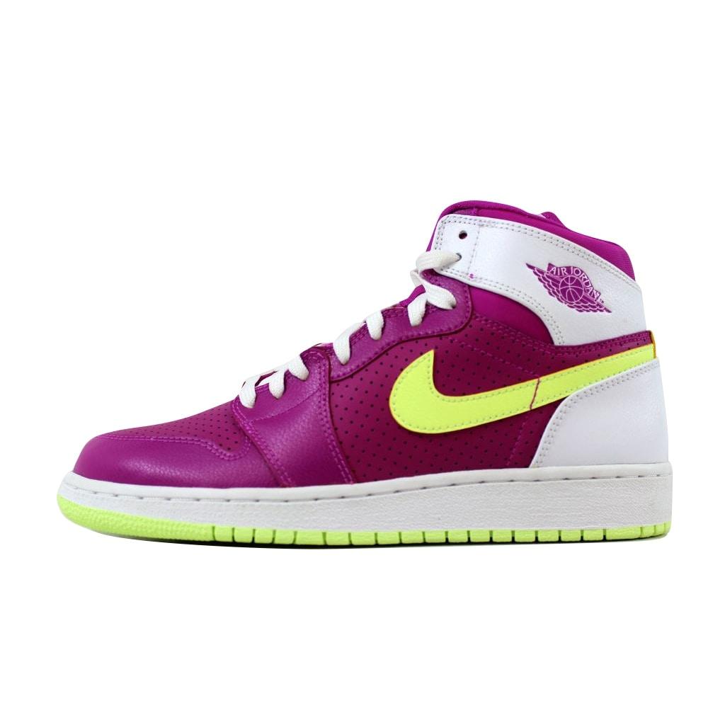 meet ba496 74e0e Shop Nike Grade-School Air Jordan 1 Retro High GG Fuchsia Flash Liquid  Lime-White 332148-509 Size 7Y - Free Shipping Today - Overstock - 20617746
