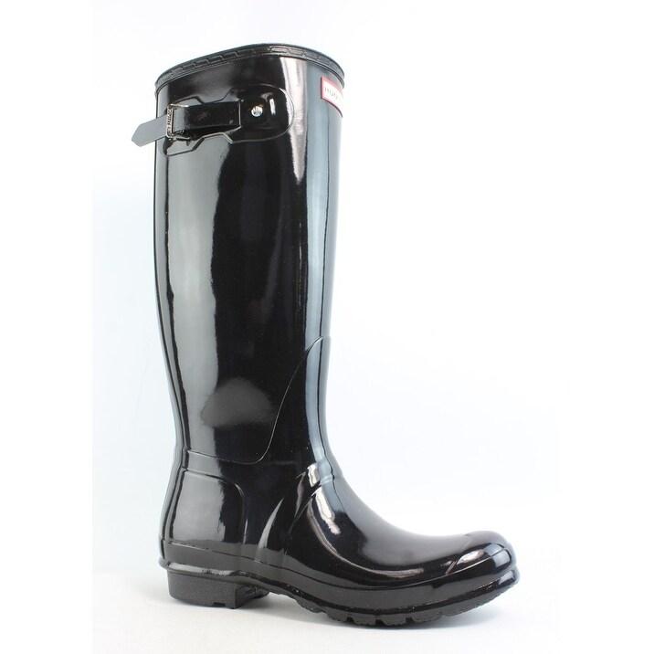 3a971f6faf0 Hunter Womens Original Tall Black Rainboots Size 5