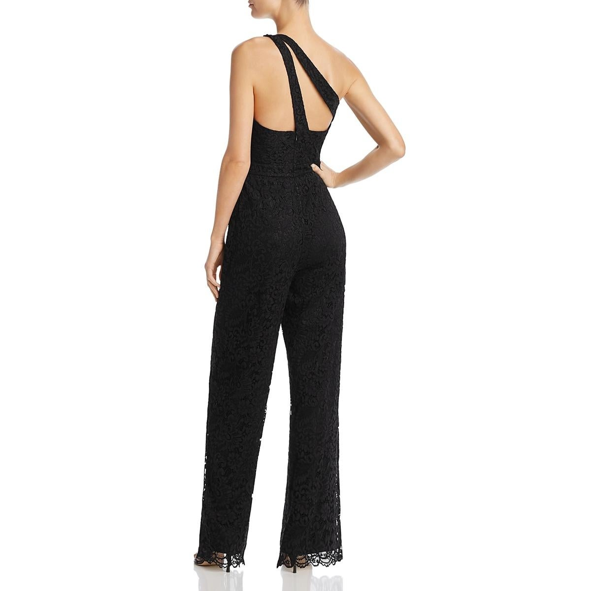 5bf192bde37 Shop Laundry by Shelli Segal Womens Jumpsuit Lace Wide Leg - On Sale - Free  Shipping On Orders Over  45 - Overstock.com - 23055200