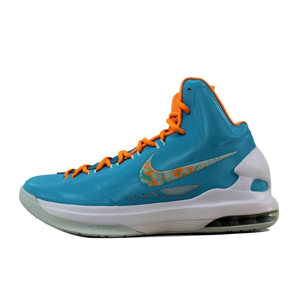 the latest 854b4 f94af Nike Men s KD V 5 Easter Turquoise Blue Bright Citrus-Fiberglass 554988-402  Size 10