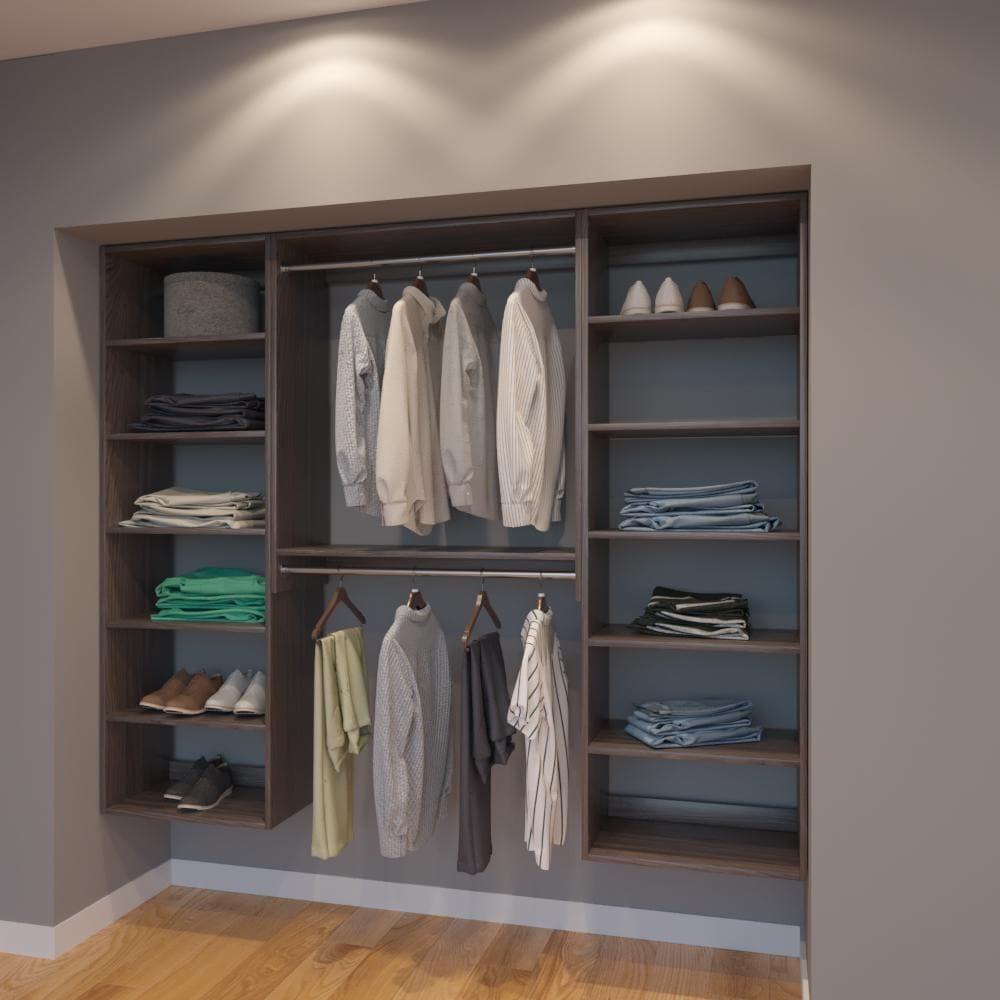 Modular Closets 7 Ft Closet Organizer System 84 Inch Style F