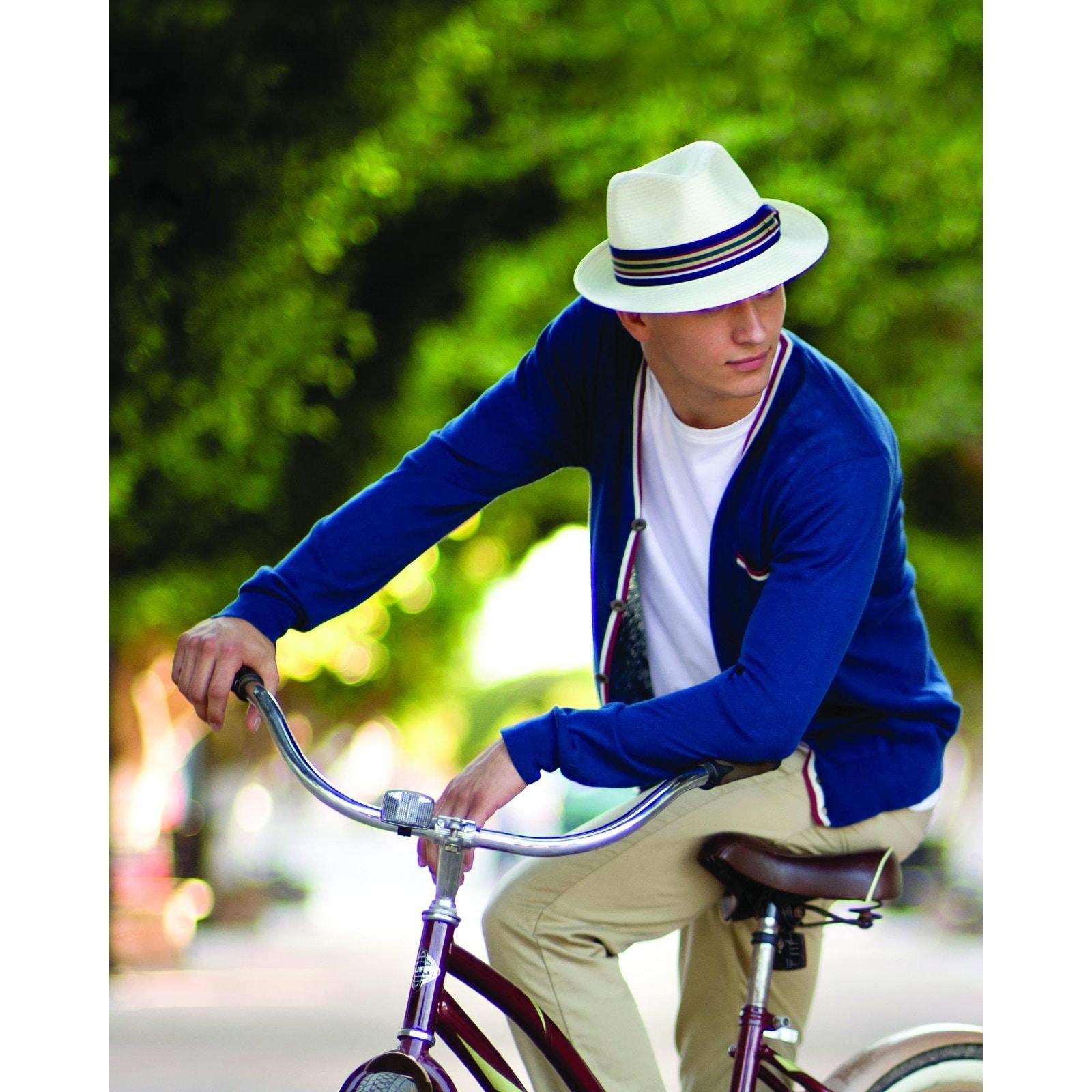c2ebaec22 Scala Men's Toyo Straw Ivory Fedora Hat