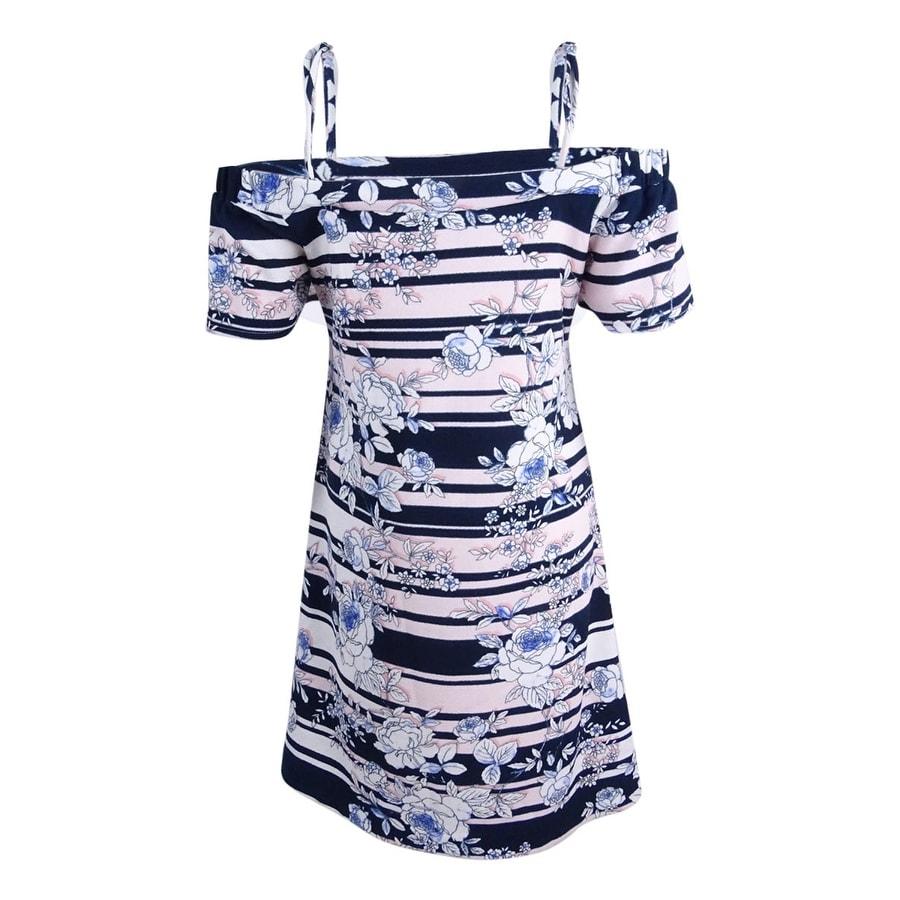 Shop Jessica Simpson Women S Off Shoulder Shift Dress 8 Black