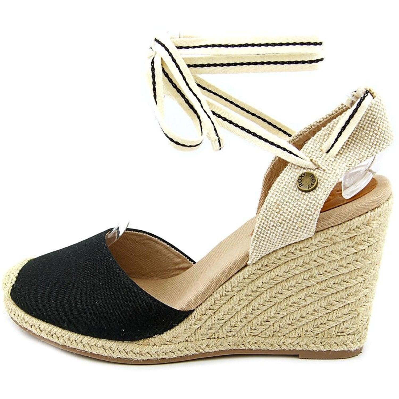 d861194bd3d Roxy Womens Bolsa Chica Cotton Closed Toe Casual Espadrille Sandals