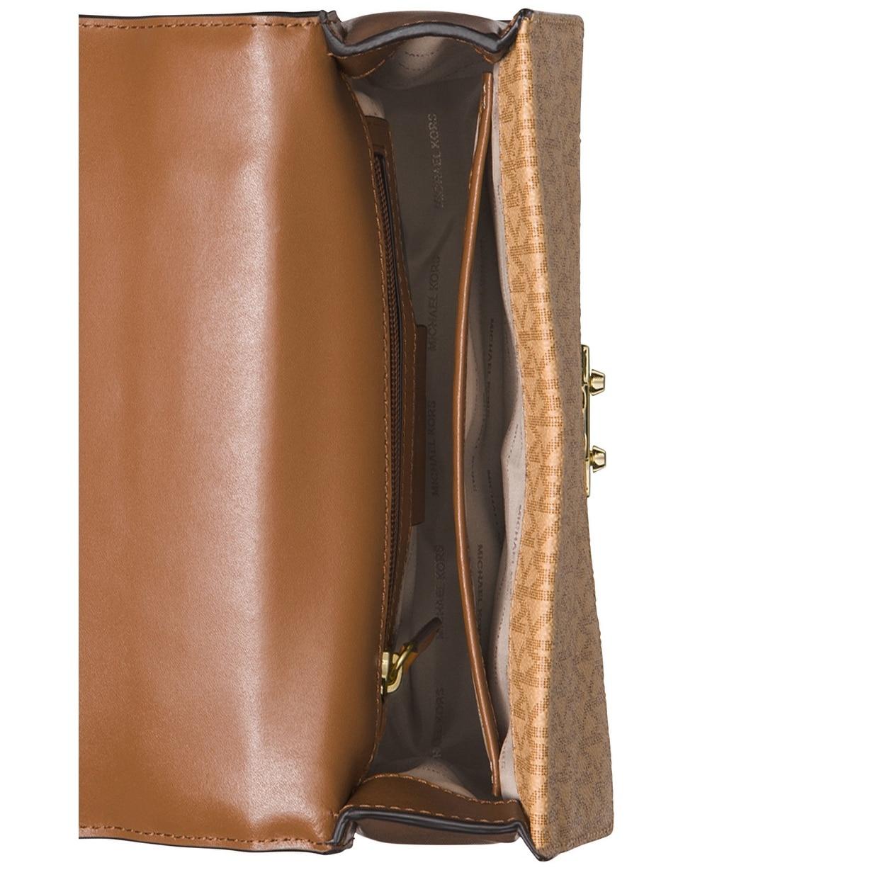 5881ee0966cf Shop MICHAEL Michael Kors Sloan Signature Top Handle Medium Satchel Brown/ Butternut/Acorn - Free Shipping Today - Overstock - 28040569