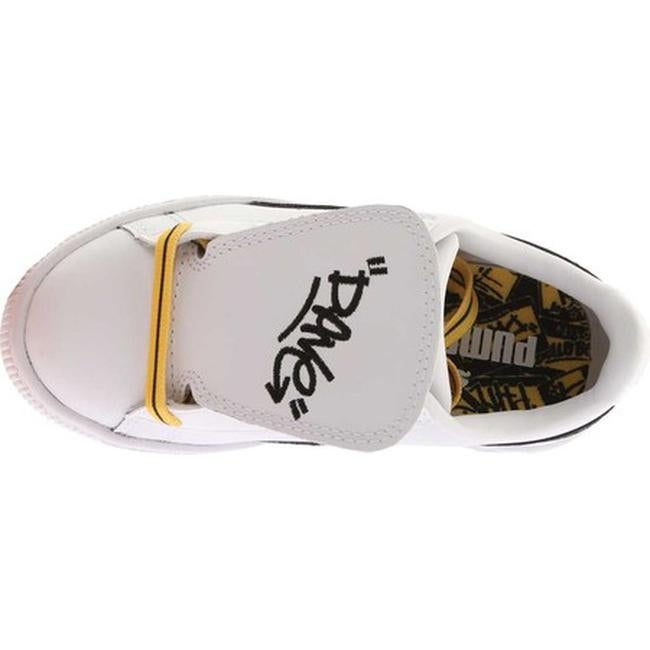 Shop PUMA Children s Minions Basket Tongue PS Sneaker PUMA White PUMA  Black Minion Yellow - Free Shipping Today - Overstock - 20254452 2deada667