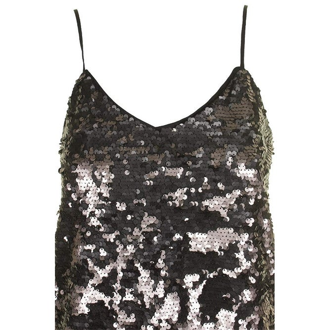1e819663f4ff30 State Black Womens Size XS Sequined Spaghetti Straps Camisole Top - On Sale  - Free Shipping On Orders Over  45 - Overstock - 26894606