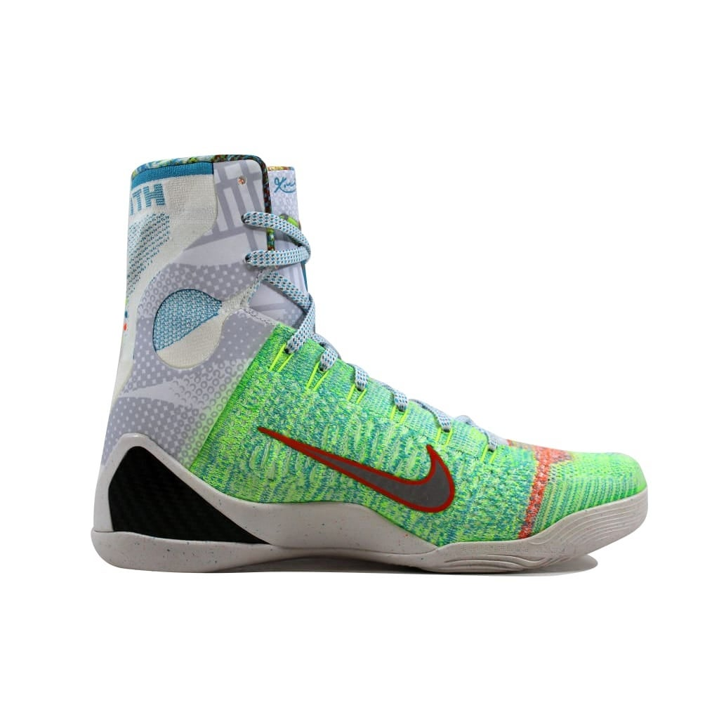 buy popular 99457 9eeee ... Shop Nike Men s Kobe IX 9 Elite Premium Multi Color Reflect Silver-Chlorine  Blue ...