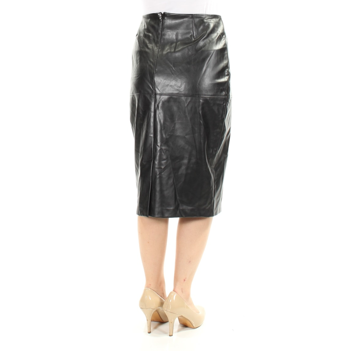 5e1fc70cfa Shop INC Womens Black Faux Leather Zippered Below The Knee Pencil Skirt  Size: 8 - On Sale - Free Shipping On Orders Over $45 - Overstock - 21510040