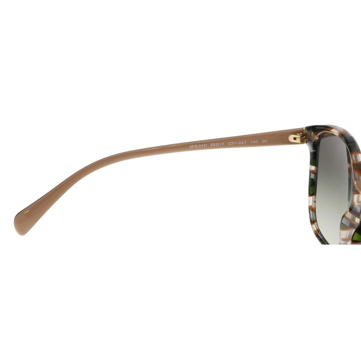 5a2528bcd5fd6 ... pr 01os seasonal opsm 85100 a970e coupon for shop prada pr01os cxy0a7  havana green brown ear square sunglasses 55 17 140 on ...