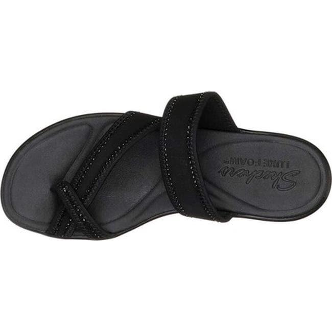 9b93590e2407 Shop Skechers Women s Bumblers Steady Rock Toe Loop Sandal Black Black -  Free Shipping On Orders Over  45 - Overstock - 27414565