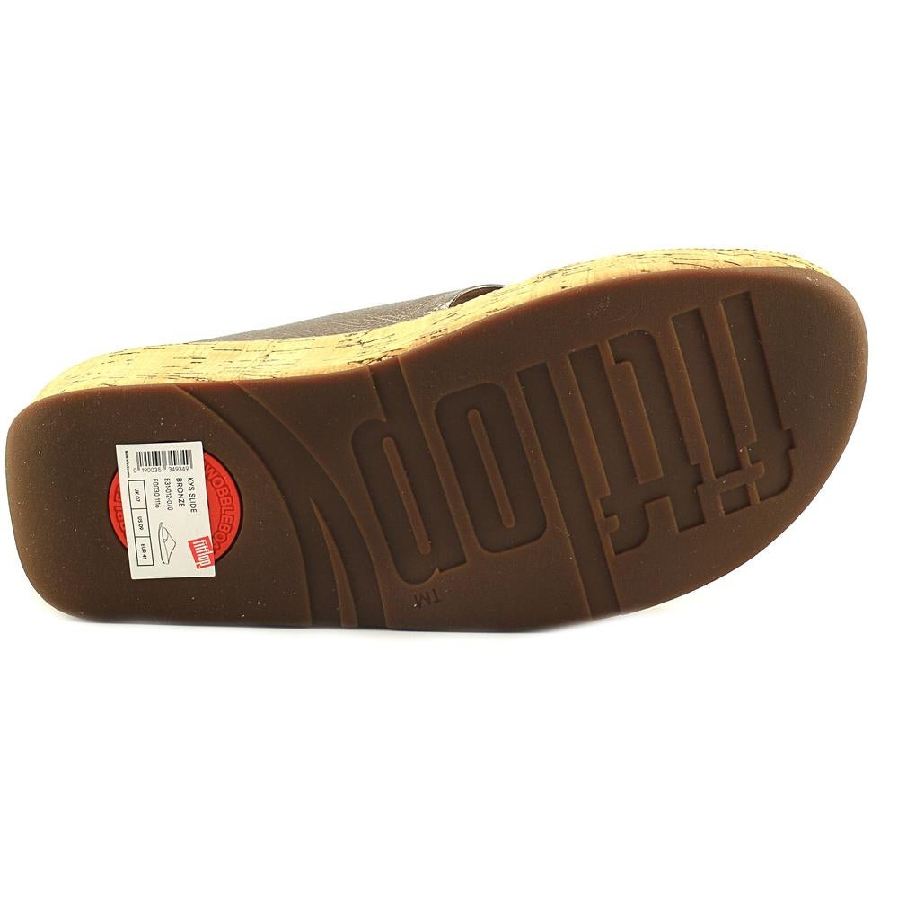 6d1190294cd9b Shop FitFlop Kys Women Open Toe Leather Bronze Slides Sandal - Free  Shipping Today - Overstock - 19397500