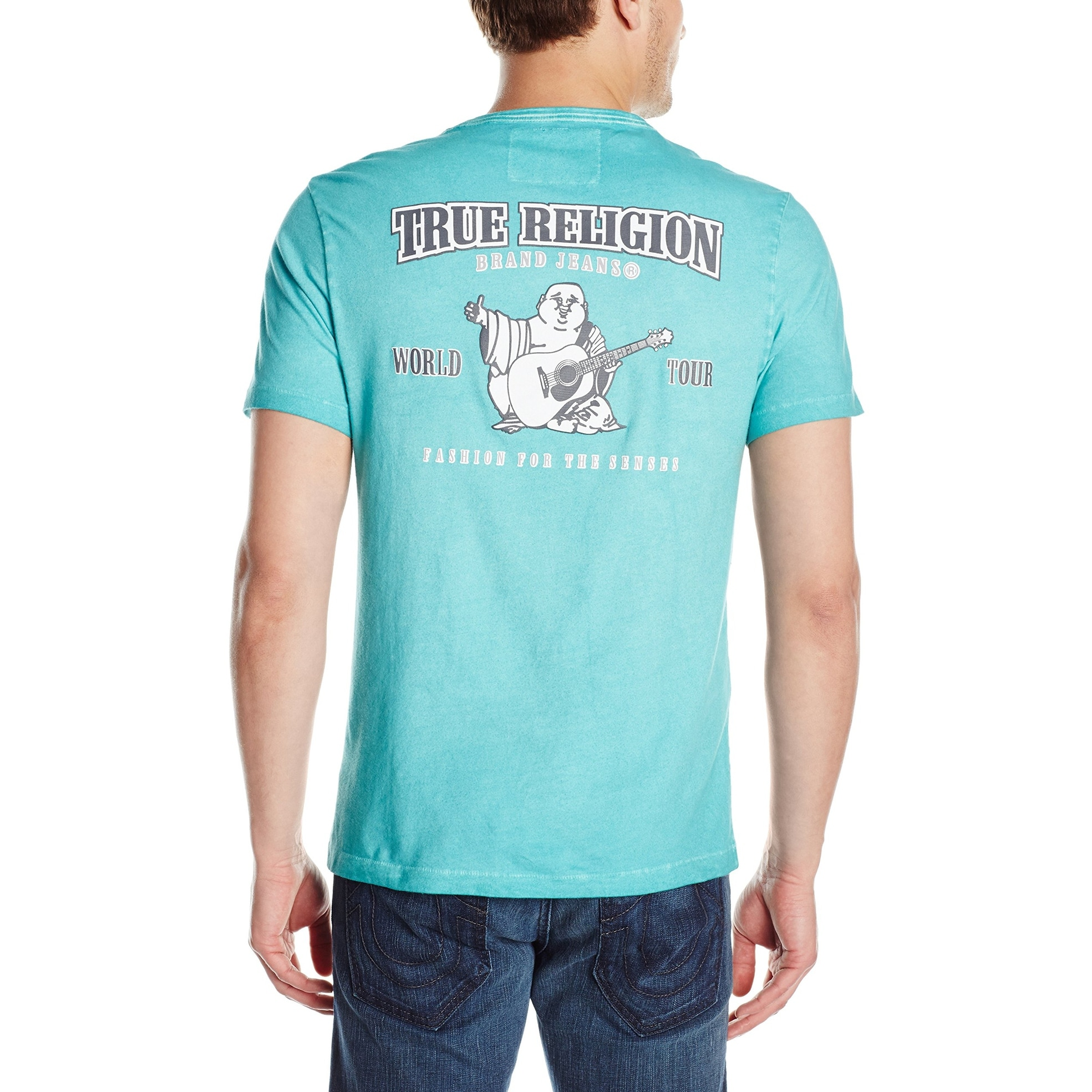 58d14257 Shop True Religion Blue Mens Size XL Graphic Double Puff Buddha Tee - Free  Shipping On Orders Over $45 - Overstock - 22090019