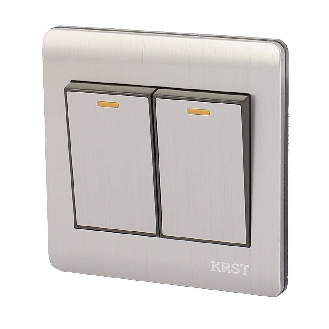 Shop On/Off Press Button 2 Gang 2 Way Wall Switch Home Light Lamp ...