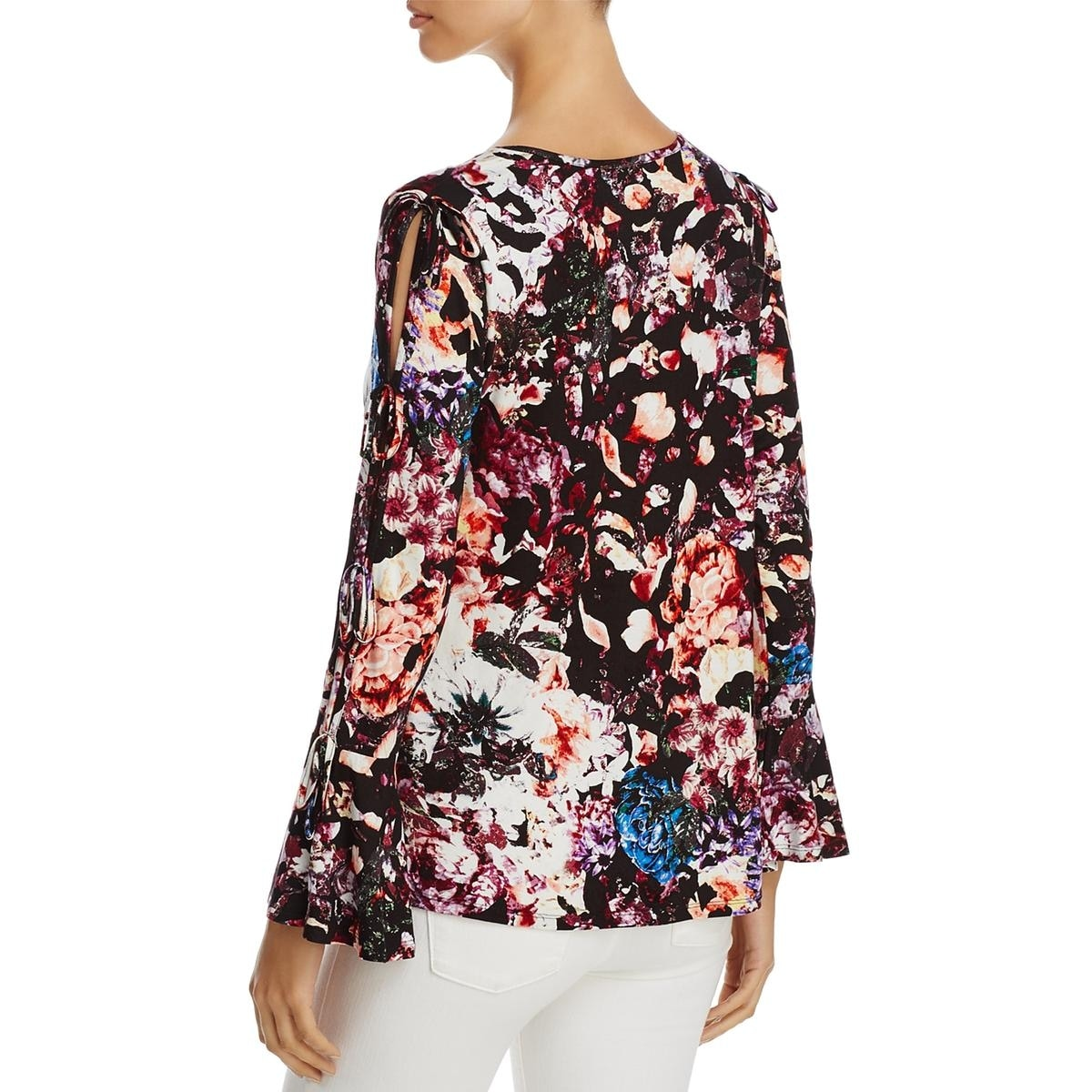 8be2c12396d Shop Cupio Womens Casual Top Floral Print Cold Shoulder - Free Shipping On  Orders Over  45 - Overstock.com - 23139162