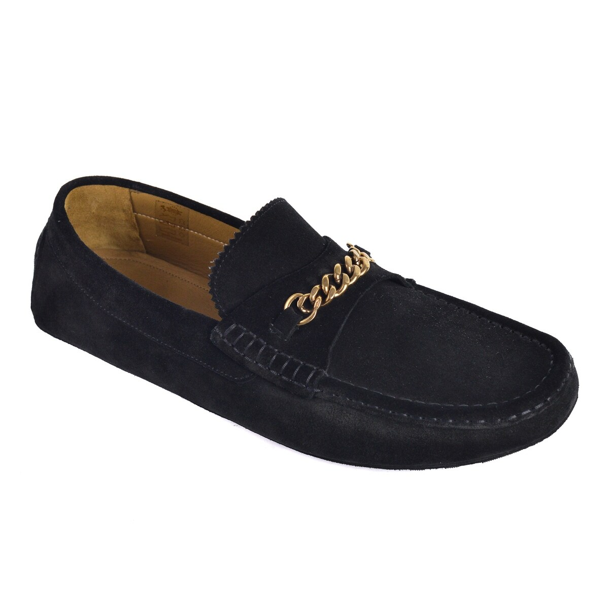 c1a6e839e83 Shop Tom Ford Mens Black Suede York Chain Driver Loafers - Free Shipping  Today - Overstock - 26397615