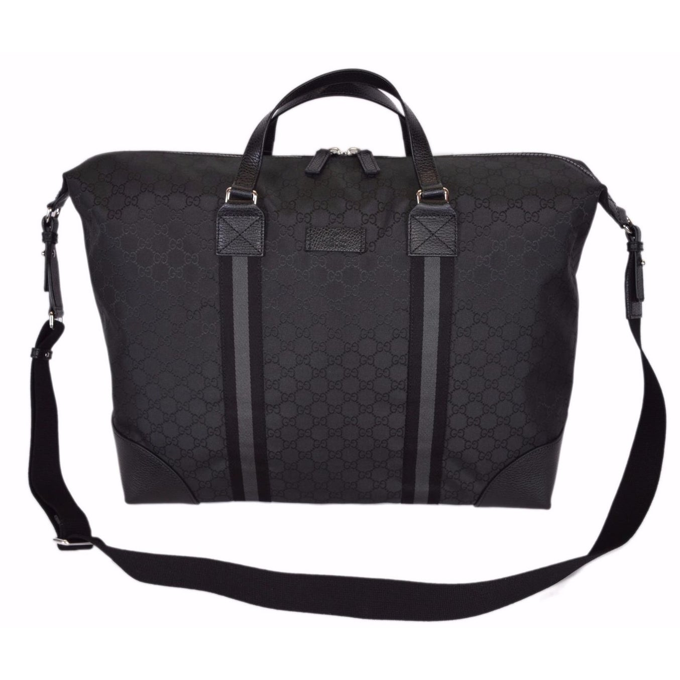 d58637f4fda6d3 Shop Gucci 449180 Black Nylon GG Guccissima XL Travel Duffle Luggage ...