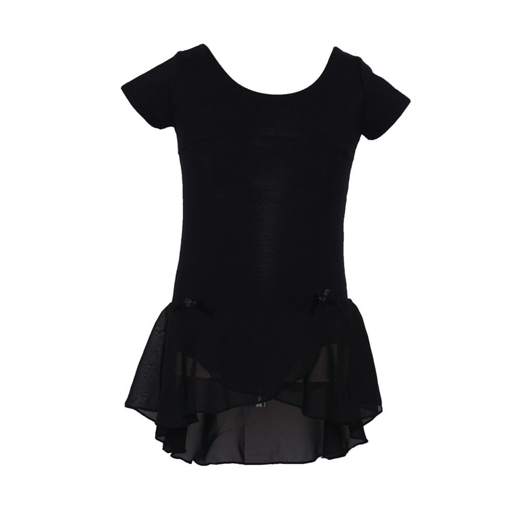 8826a6f9a300 Shop Danshuz Black Cap Sleeve Princess Seam Bows Dance Dress Little ...