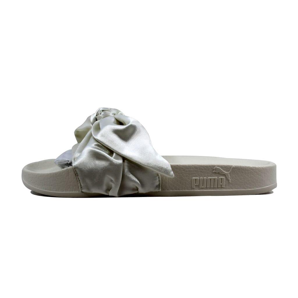 18c266b5ab8a Shop Puma Bow Slide Marshmallow Puma Silver Rihanna Fenty 365774 02 Women s  - On Sale - Free Shipping Today - Overstock - 21893591