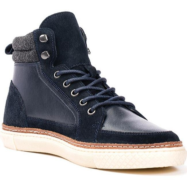 dc54d26bc Shop Crevo Men's Martel High Top Sneaker Navy Leather/Suede - Free Shipping  Today - Overstock - 12454247
