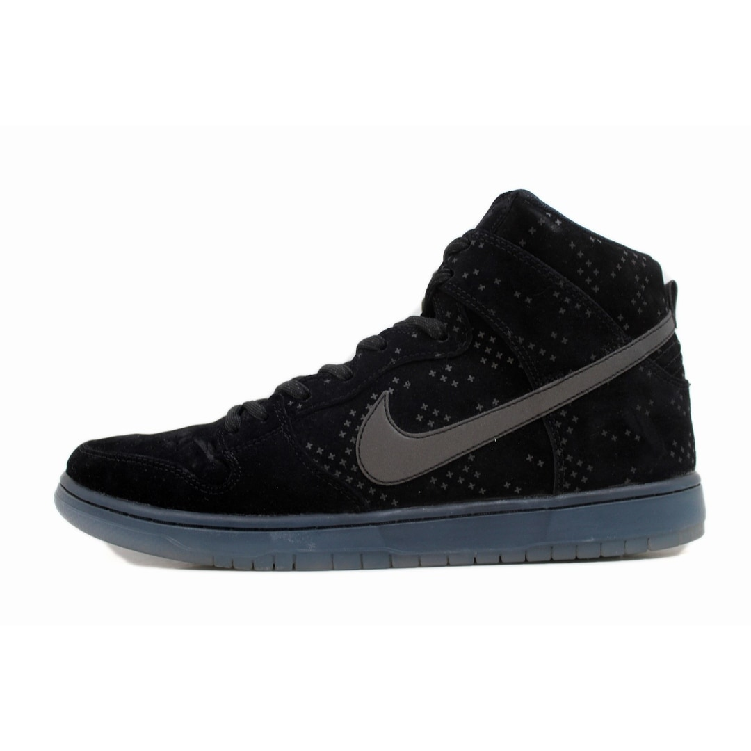 90c6d2bae64c Shop Nike Men s Dunk High Premium Flash SB Black Black-Clear 806333-001 -  Free Shipping Today - Overstock - 20131661