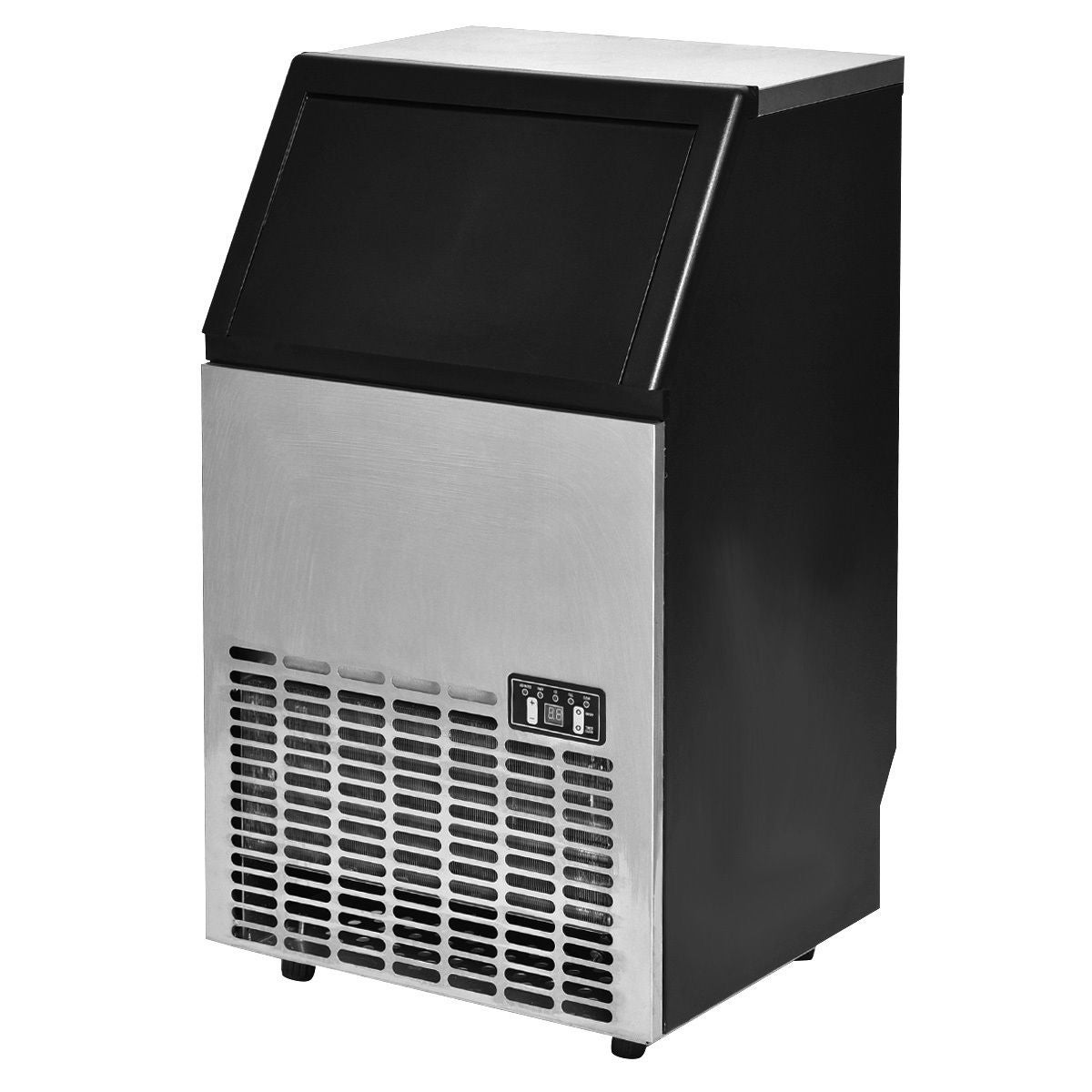 shop costway built in stainless steel commercial ice maker portable ice machine restaurant on sale free shipping today overstockcom 15896013 - Commercial Ice Machine