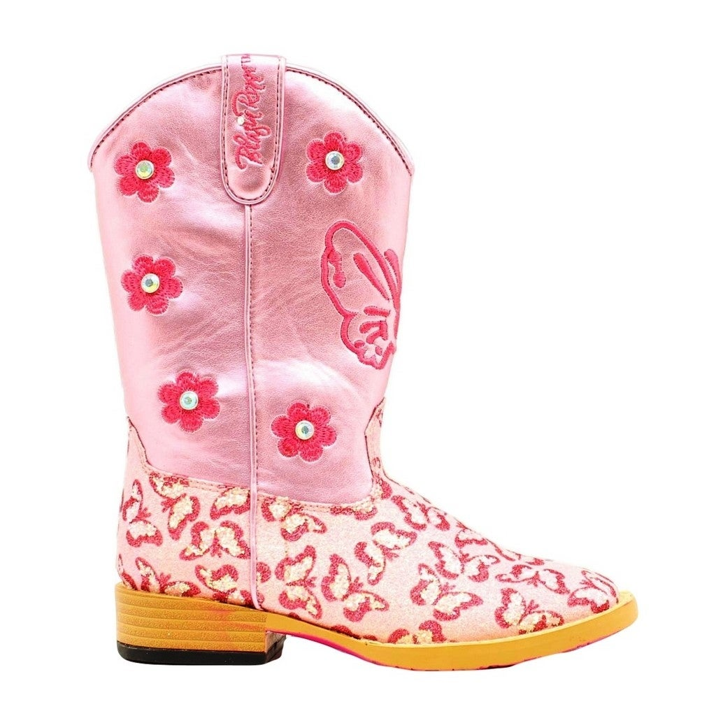 Shop Blazin Roxx Western Boots Girls Pecos Kids Glitter Zip Pink ...