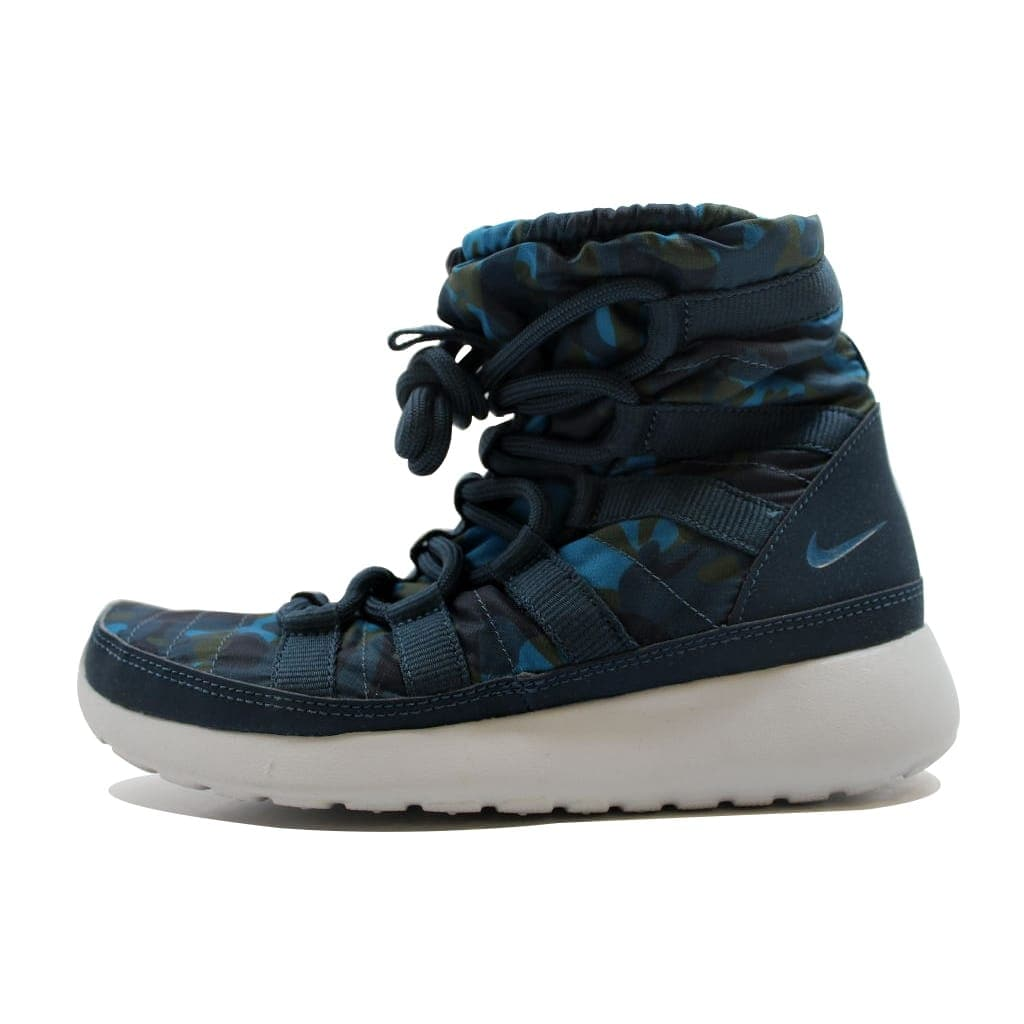 brand new bb864 8d7cc ... inexpensive shop nike womens roshe one 1 hi print squadron blue brigade  blue green sneakerboot 807425