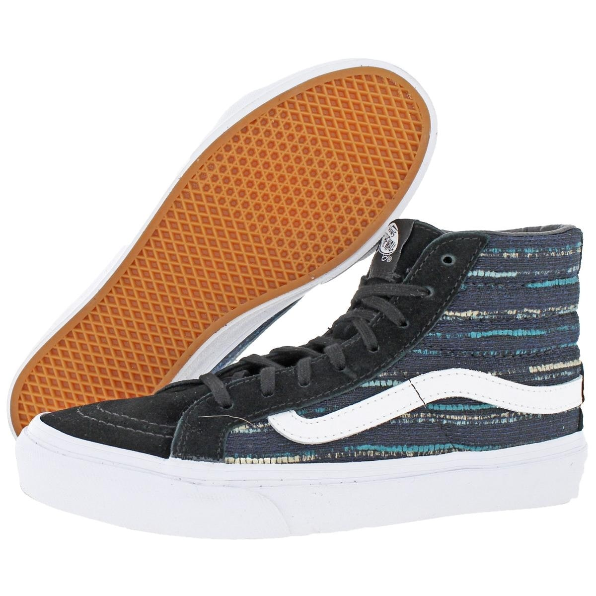 a6aac37a15 Shop Vans Womens SK8-Hi Slim Skate Shoes Italian Weave Fashion - Free  Shipping On Orders Over  45 - Overstock - 22732739