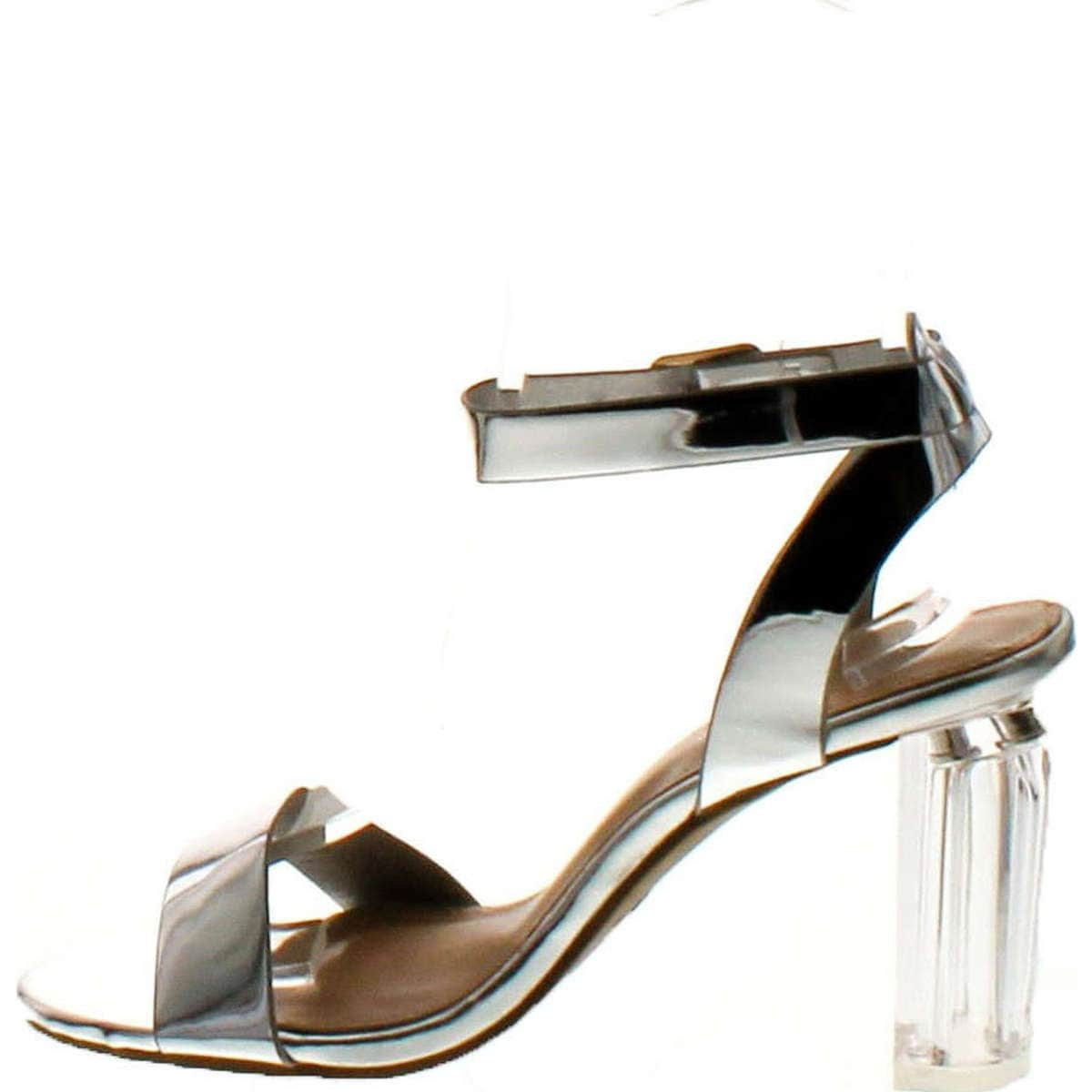 4e5682ac0b3b Shop Top Moda Women s Alma-70 Lucite Clear Strappy Block Chunky High Heel  Open Peep Toe Sandal - Free Shipping On Orders Over  45 - Overstock -  14820228