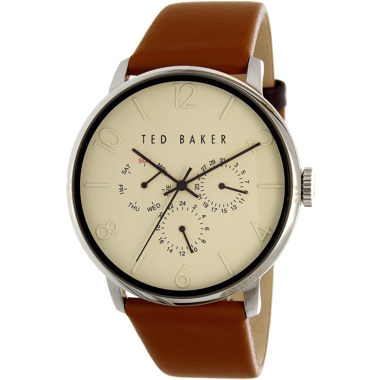 cf408df14 Shop Ted Baker Men s Dress Sport Brown Leather Analog Quartz Dress ...