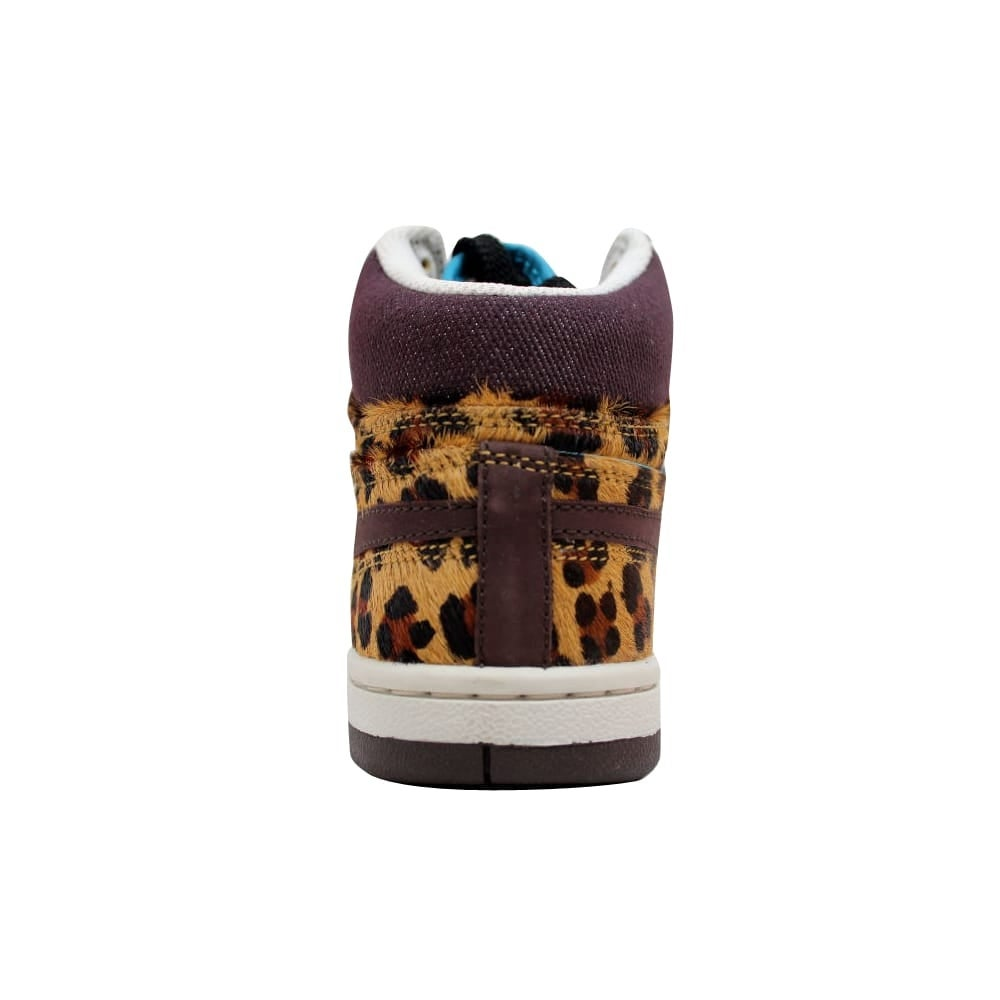 bd3aa90e3a0a Shop Nike Court Force Hi Premium Madeira Madeira-Black Cheetah Women s  317072-221 Size 9.5 Medium - Free Shipping Today - Overstock - 20129311