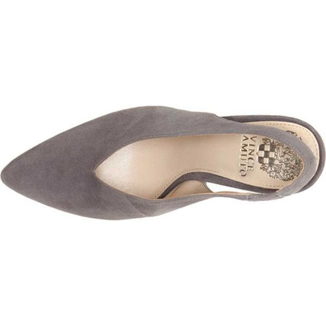 cb5d13cdc8a Shop Vince Camuto Women s Tashinta Slingback Pump Graystone True Suede - On  Sale - Free Shipping Today - Overstock - 24015233