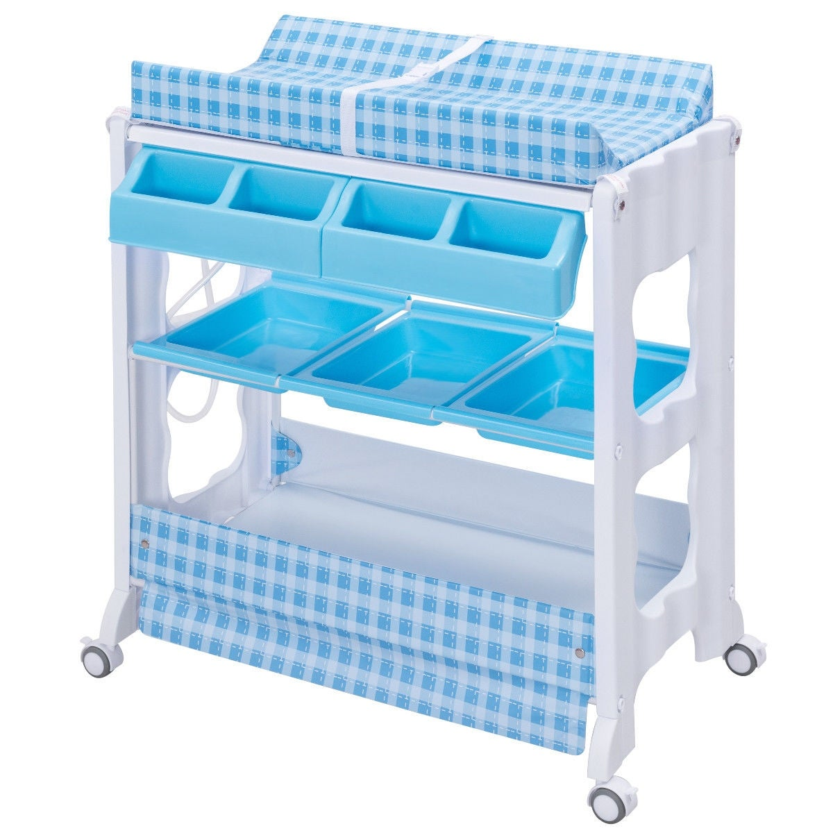 Shop Costway Baby Infant Bath Changing Table Diaper Station Nursery ...
