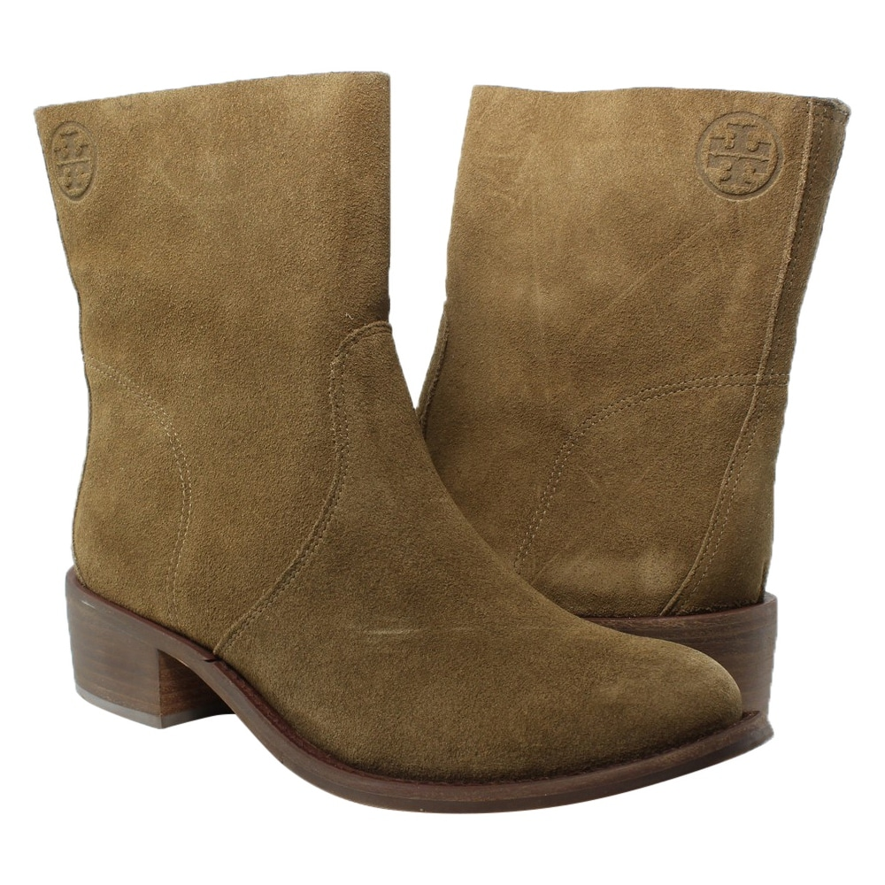 85cf27a309eb Shop Tory Burch Womens Siena Brown Booties Size 7 - Free Shipping Today -  Overstock - 23589126