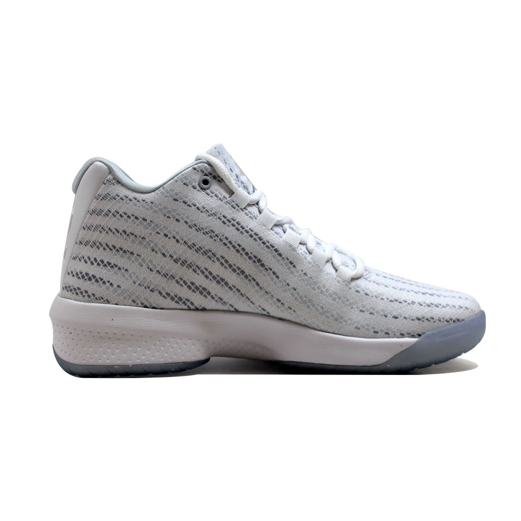 hot sale 09116 c383b Shop Nike Men s Air Jordan B. Fly White Wolf Grey-Pure Platinum 881444-100  - Free Shipping Today - Overstock - 20129212